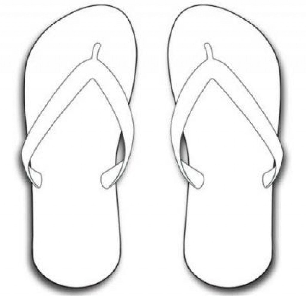 √ Flip Flop Coloring Pages Free Printable Collection - Free Printable Flip Flop Pattern