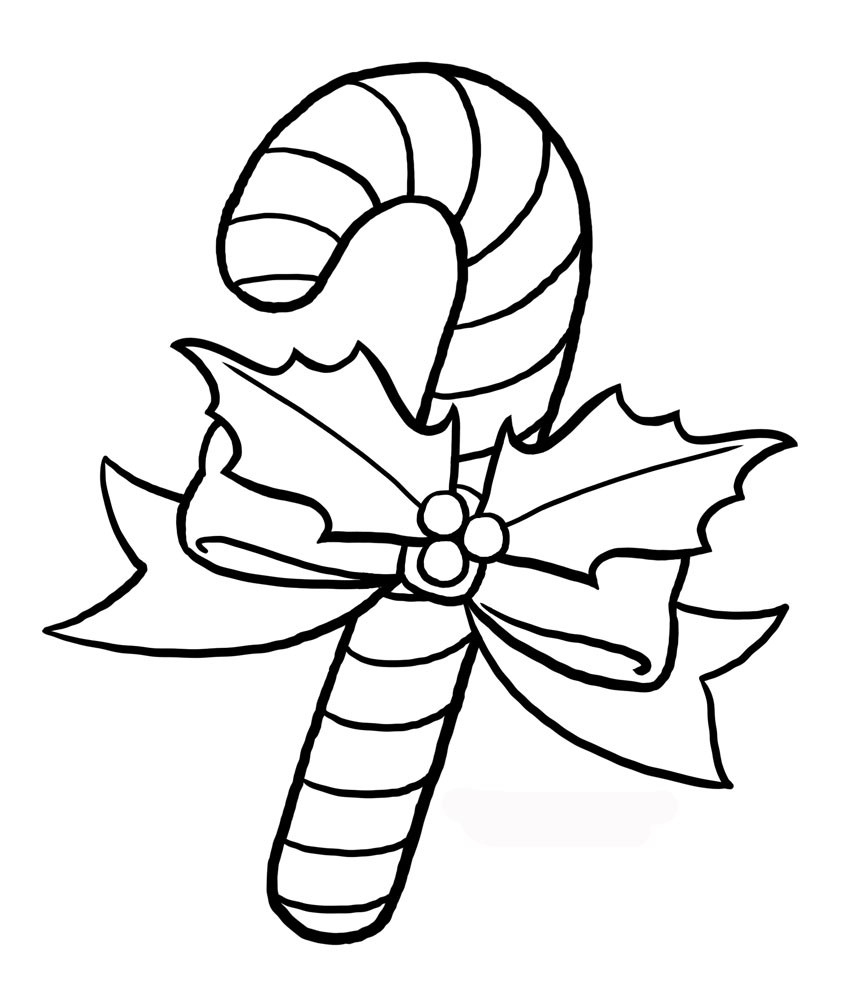 √ Free Printable Candy Cane Coloring Pages For Kids - Free Printable Candy Cane