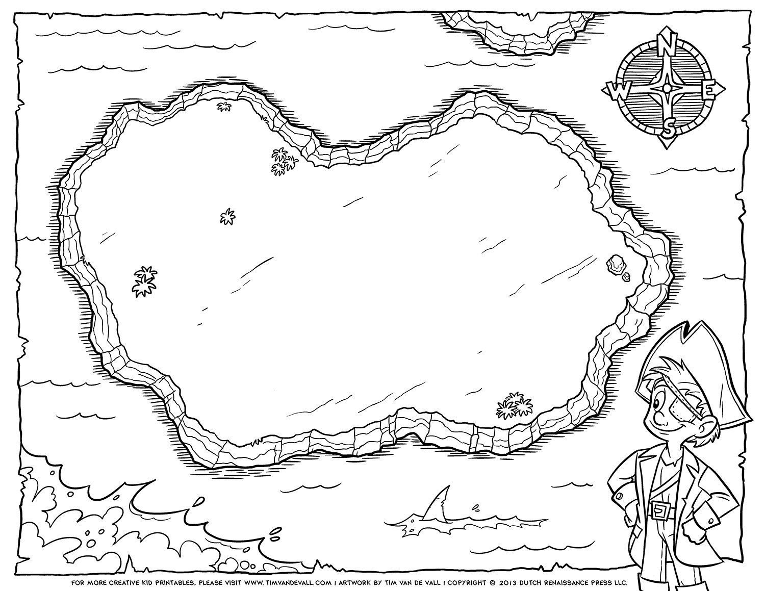 √ Promising Treasure Maps To Print Pirate Map Coloring Pages - Free Printable Pirate Maps