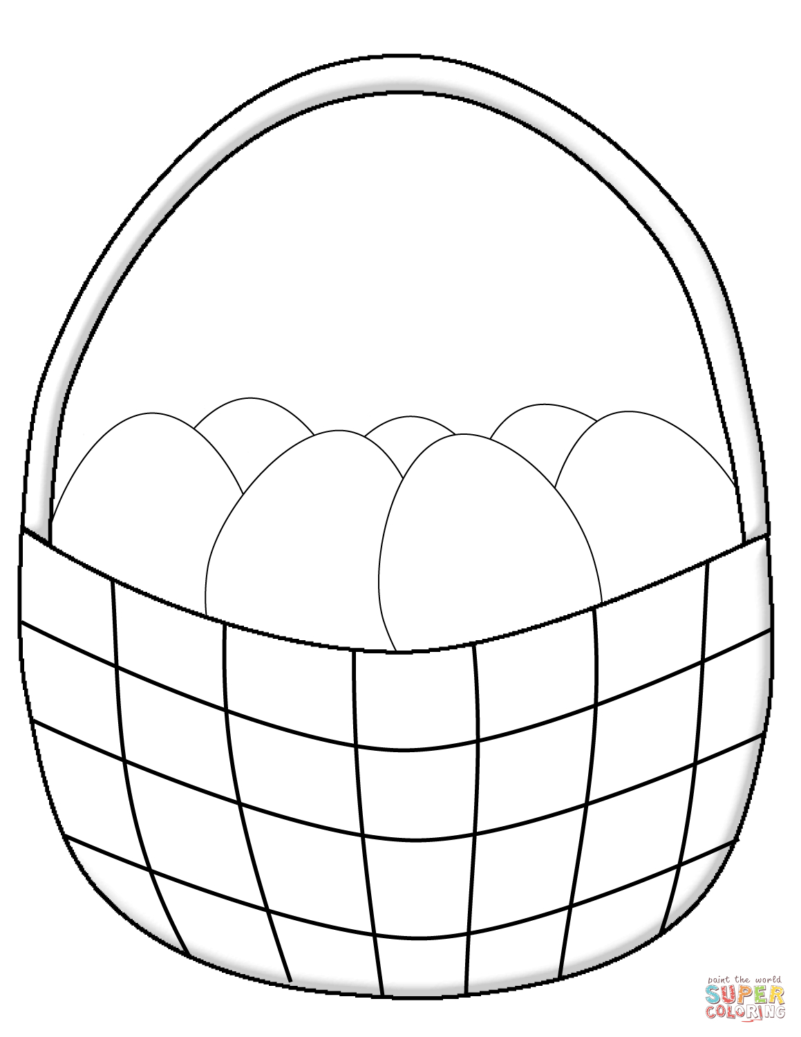 Easter Basket Coloring Pages | Free Printable Pictures - Free Printable Coloring Pages Easter Basket