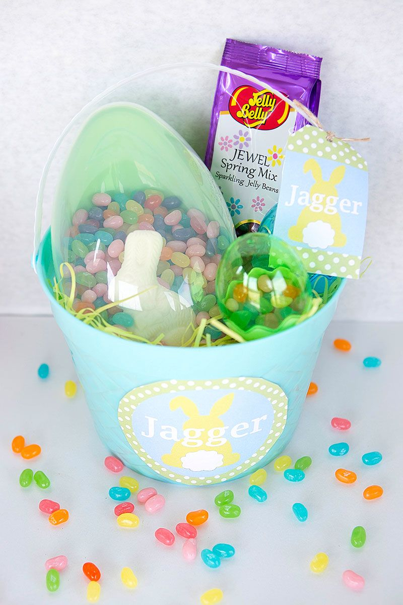 Easter Basket Ideas With Free Printable Editable Name Tags For The - Free Printable Easter Basket Name Tags