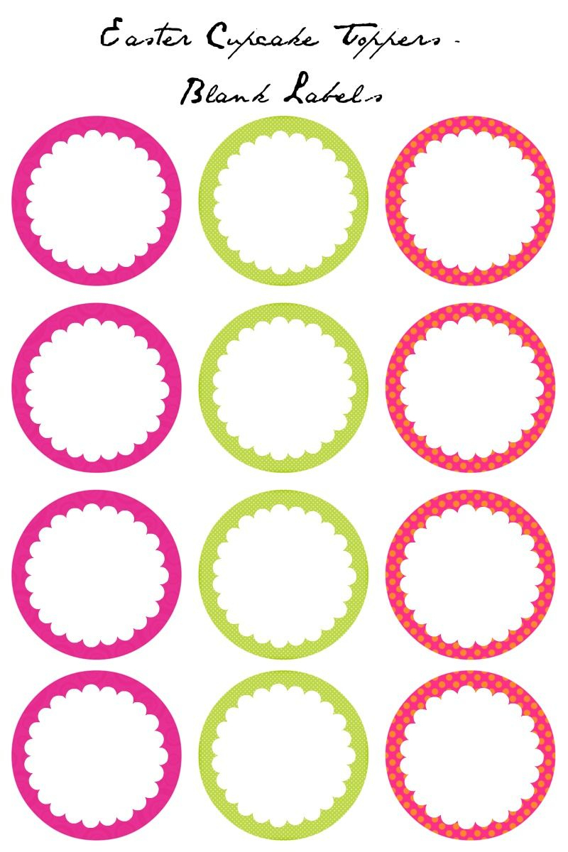 Easter Cupcake Toppers - Free Printables | Easter | Cupcake Toppers - Cupcake Topper Templates Free Printable
