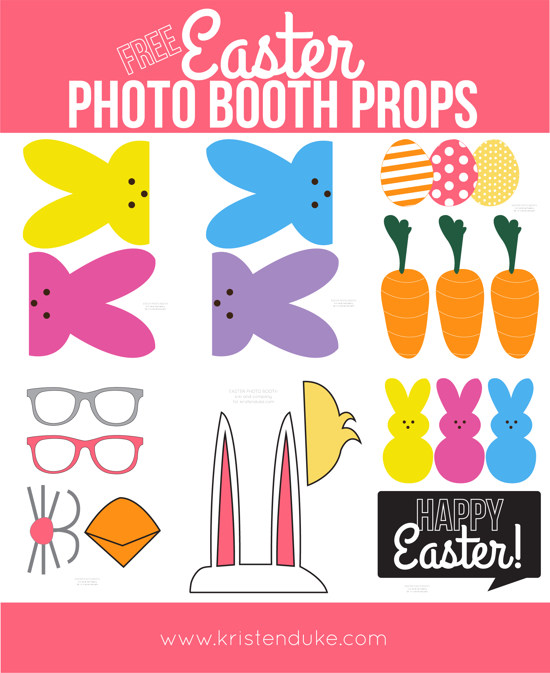 Easter Photo Booth Props From Capturing Joy With Kristen Duke - Free Printable Easter Images