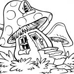 Easy Coloring Pages | Zendoodles For Cards | Pinterest | House   Free Printable Mushroom Coloring Pages