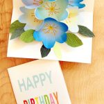 Easy Diy Free Printable Happy Birthday Card Greeting Pop Up Bouquet   Free Printable Happy Birthday Cards For Dad