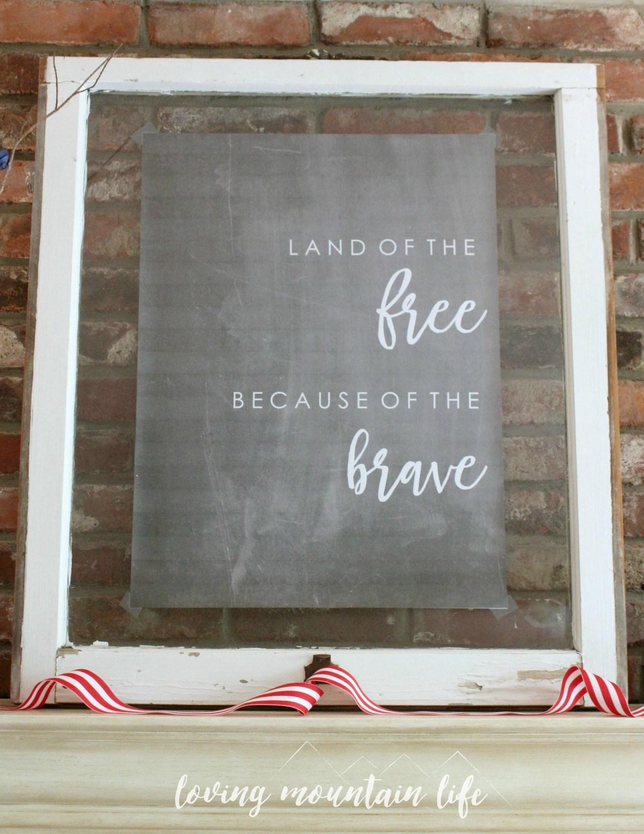 Easy Diy Patriotic Decor & A Free Beautiful Printable - Loving - Free Printable Patriotic Writing Paper