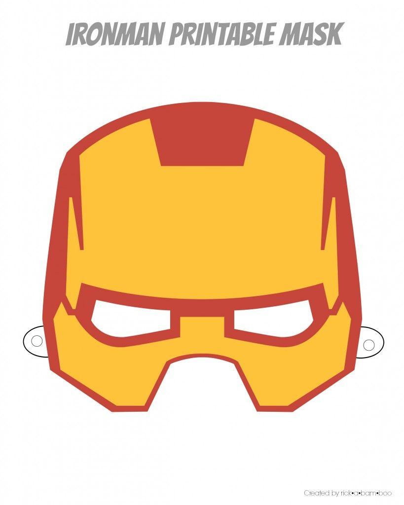 Easy Superhero Mask Template (Free!!) | Halloween Crafts | Pinterest - Free Printable Halloween Iron Ons
