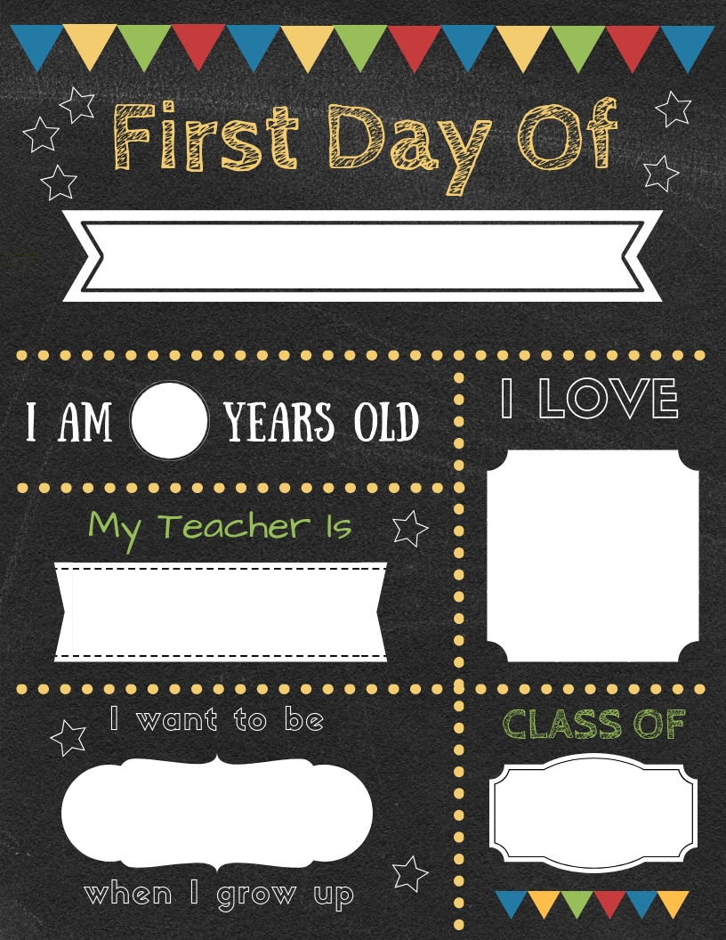 Editable First Day Of School Signs To Edit And Download For Free! - First Day Of School Printable Free