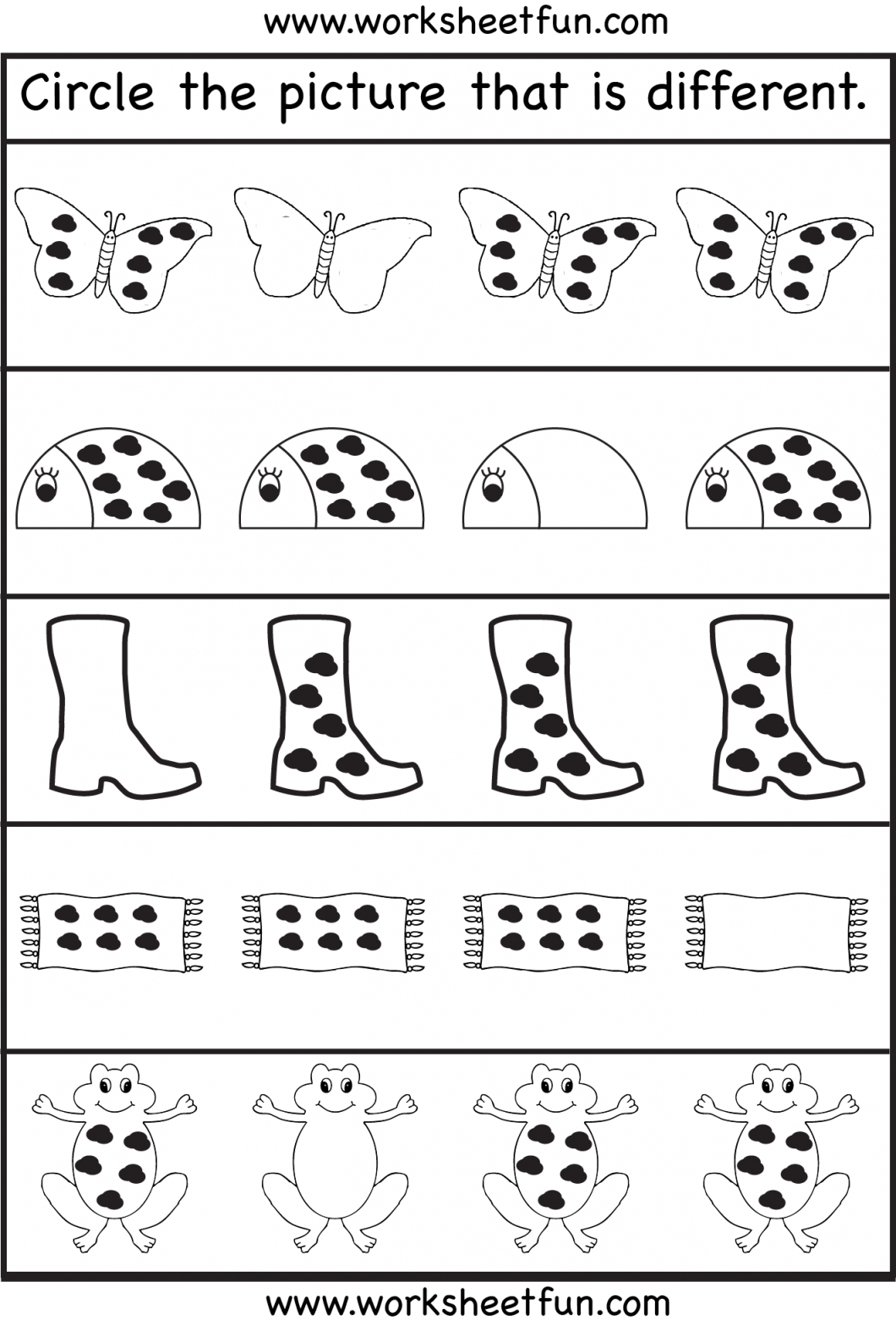 Educational Activities For 3 Year Olds Printable – With Preschool - Free Printable Same And Different Worksheets
