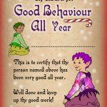 Elf Certificate: Award For Good Behaviour All Year | Rooftop Post   Good Behaviour Certificates Free Printable