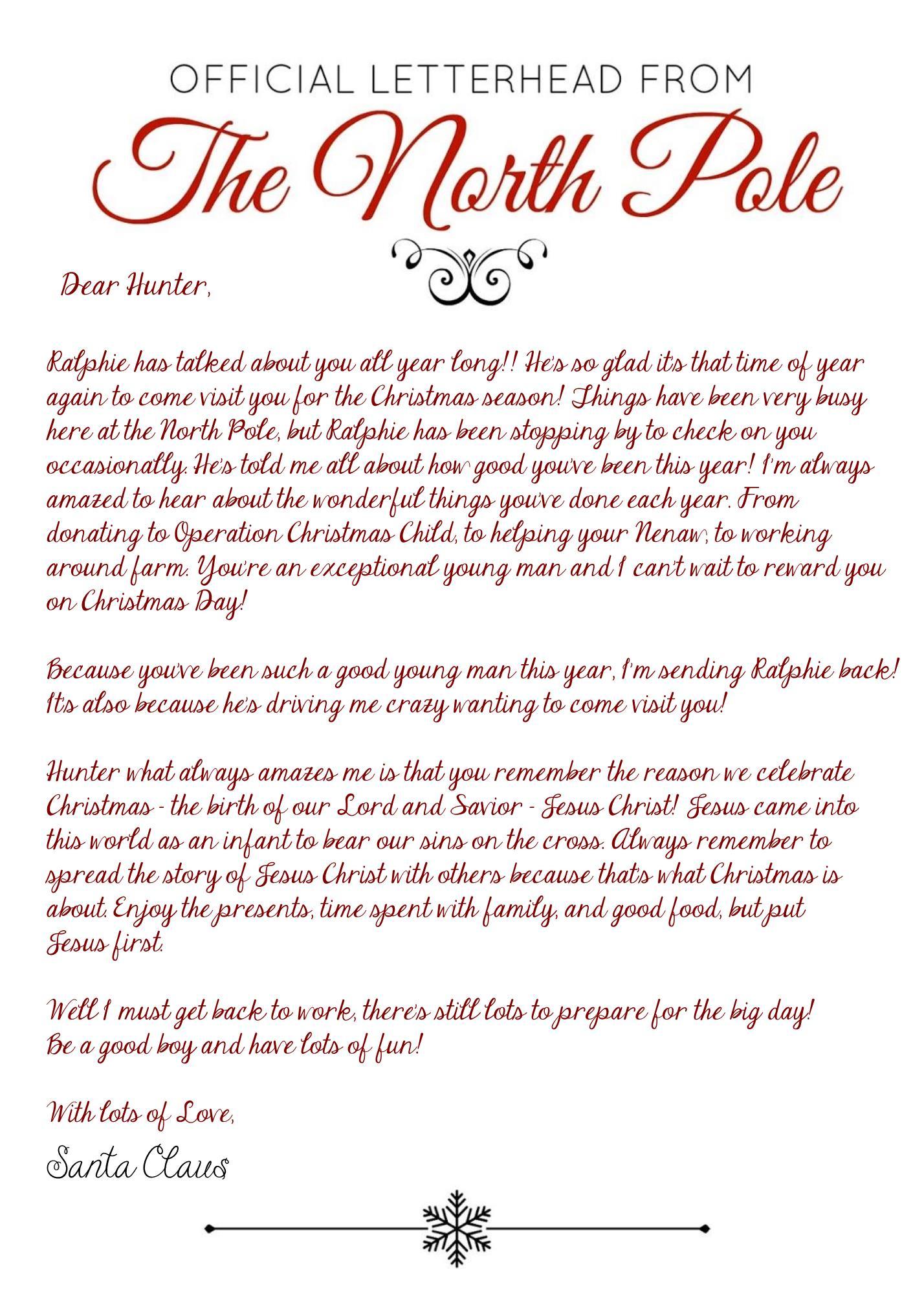 Elf On The Shelf Arrival Letter - Jesus Version - 2017 - Free - Free Printable Elf On Shelf Arrival Letter