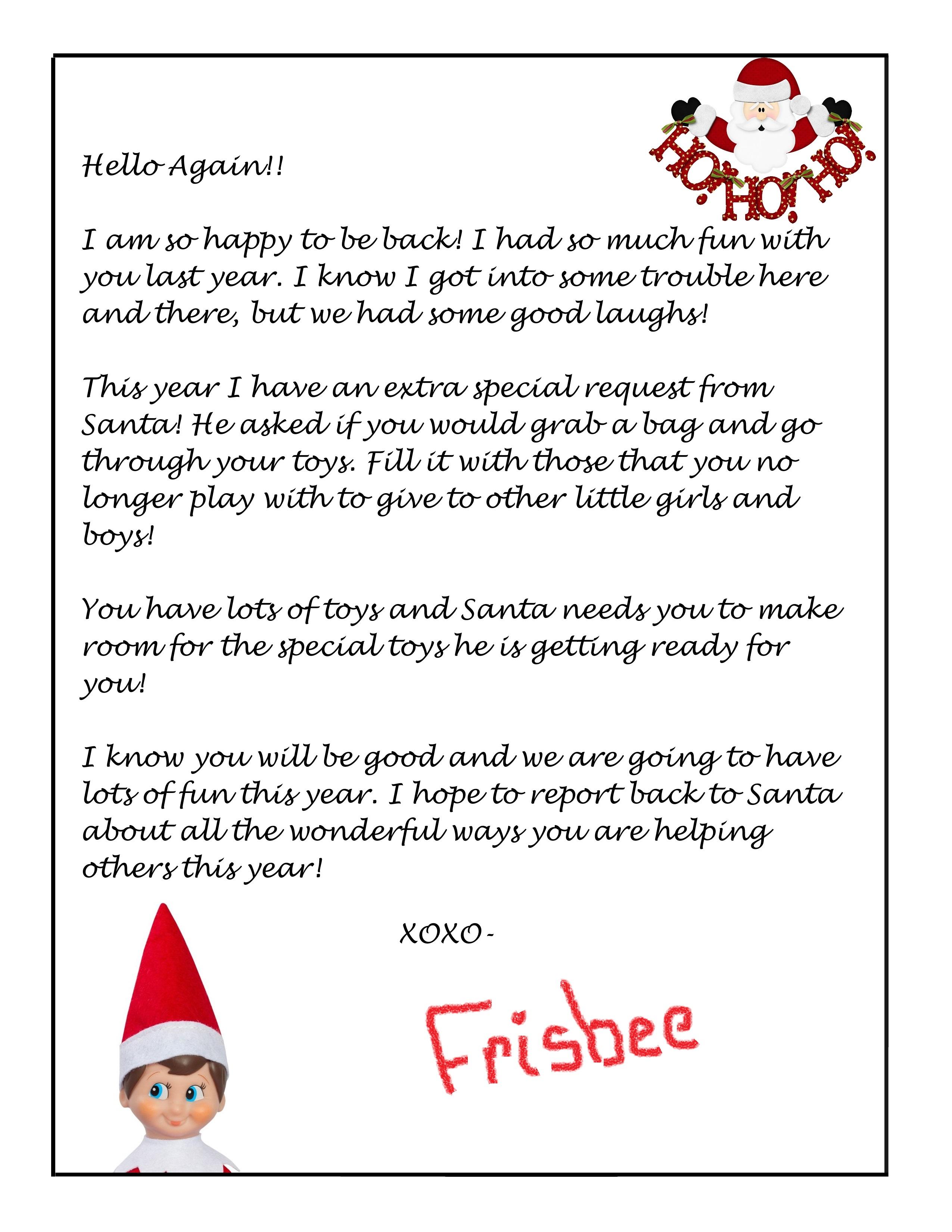 Elf On The Shelf Free Donation Letter Printable - Printables 4 Mom - Free Printable Elf On The Shelf Letter