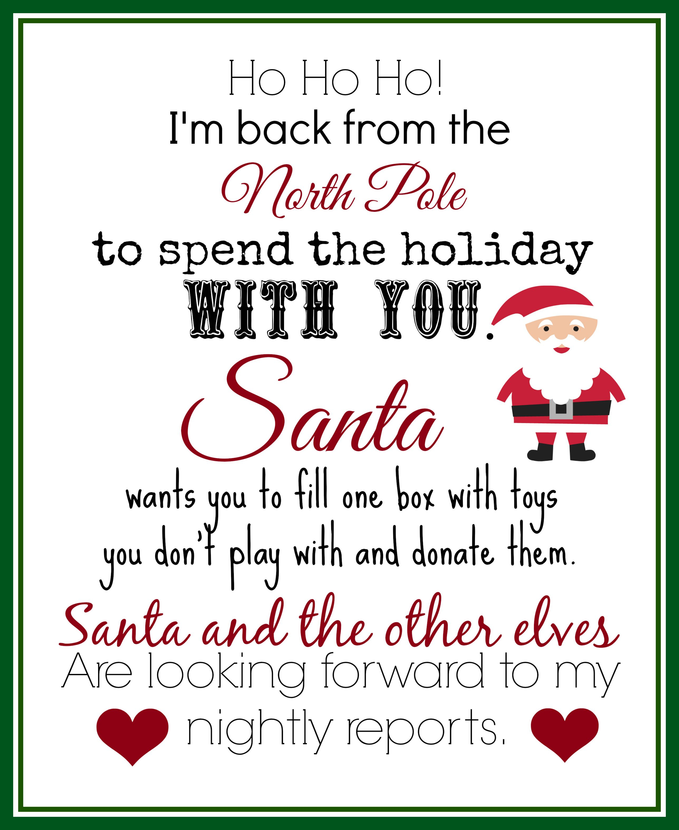 Elf On The Shelf Ideas For Arrival: 10 Free Printables   Elf On The - Free Printable Elf On The Shelf Letter