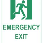 Emergency Exit Sign   Free Printable Emergency Exit Only Signs