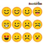 Emoticons Collage Clip Art Emoticons Symbols Clipart Emoticons Text   Free Printable Emoji Faces