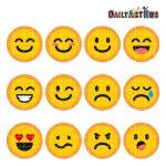 Emoticons Collage Clip Art Emoticons Symbols Clipart Emoticons Text   Free Printable Emoji Faces