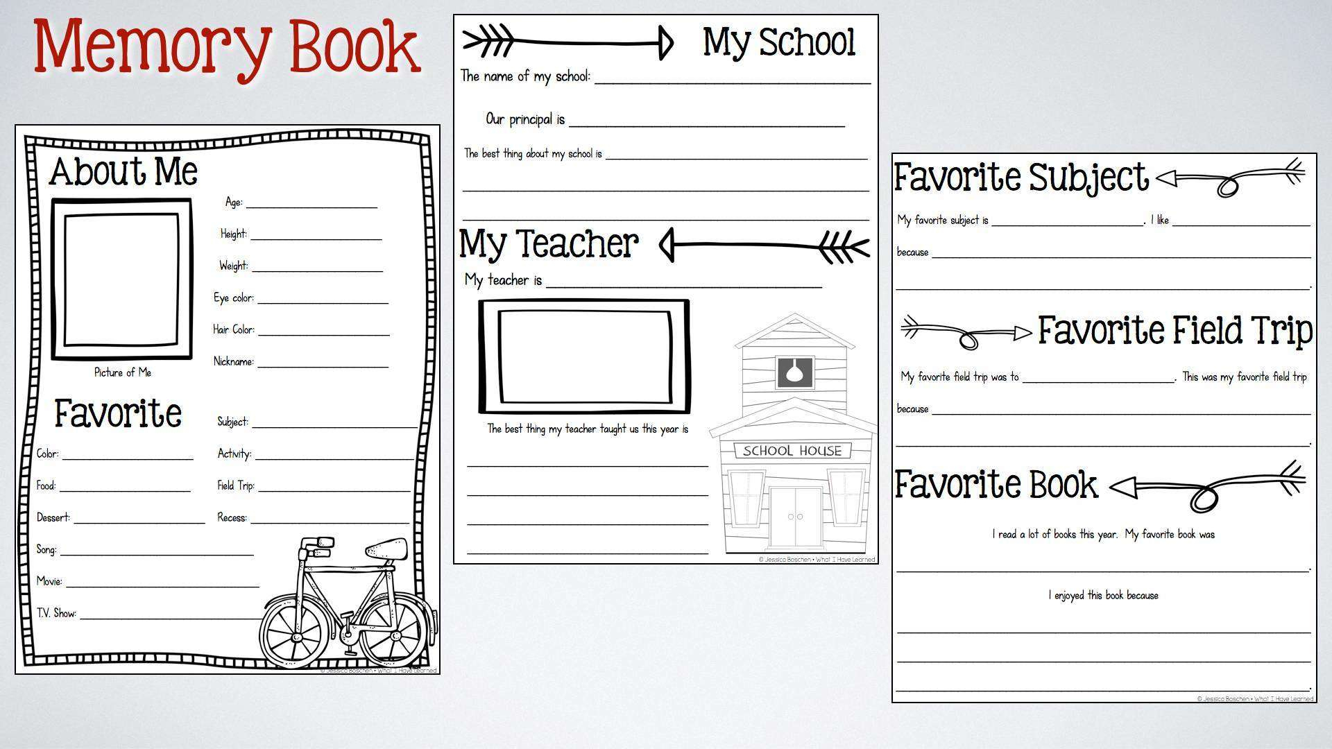 End-Of-The-Year Memory Book & Activities - Free Printable Autograph Book For Kids