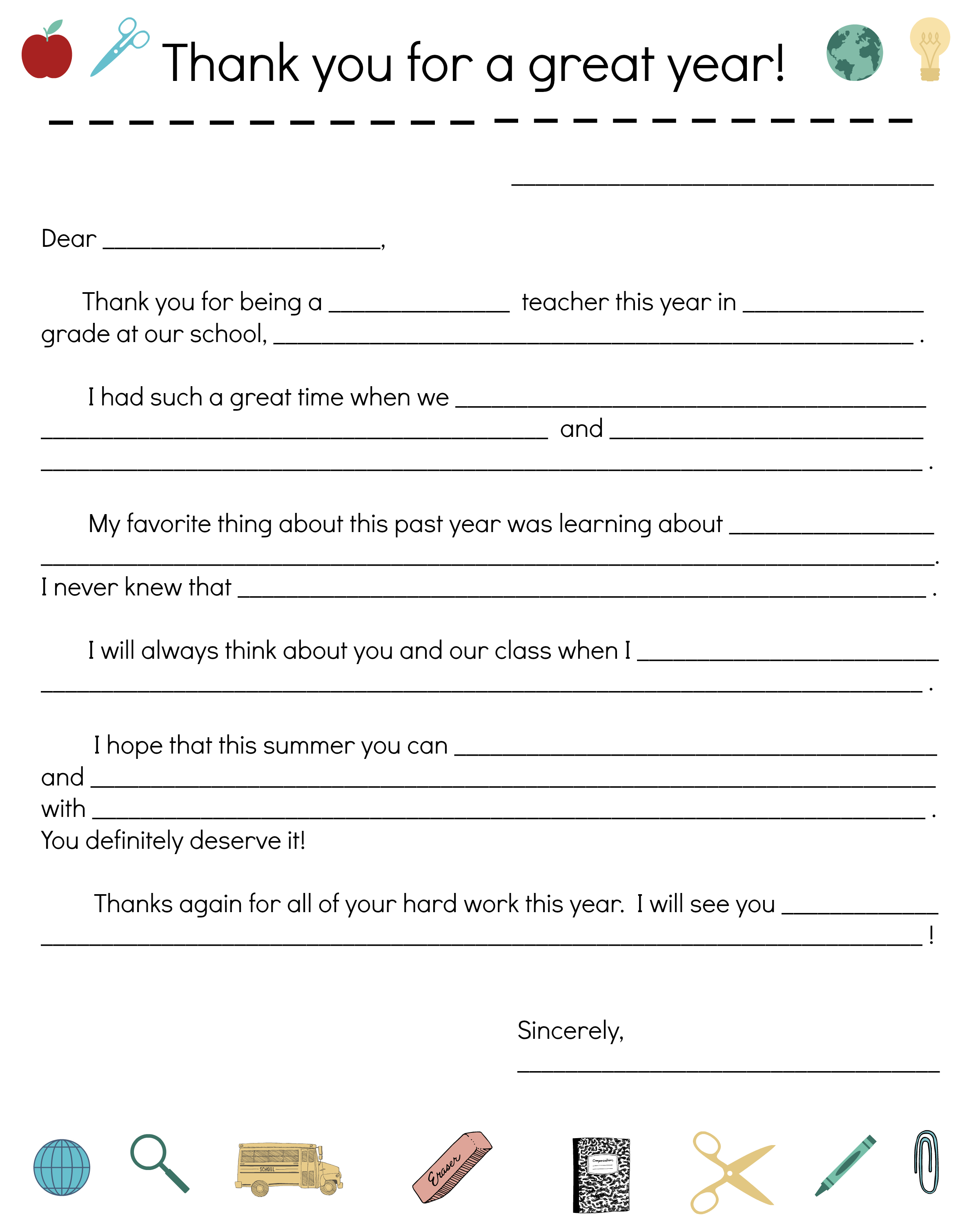 End-Of-Year Teacher Thank You Note | All Things Parenting | Teacher - Free Printable Teacher Notes To Parents