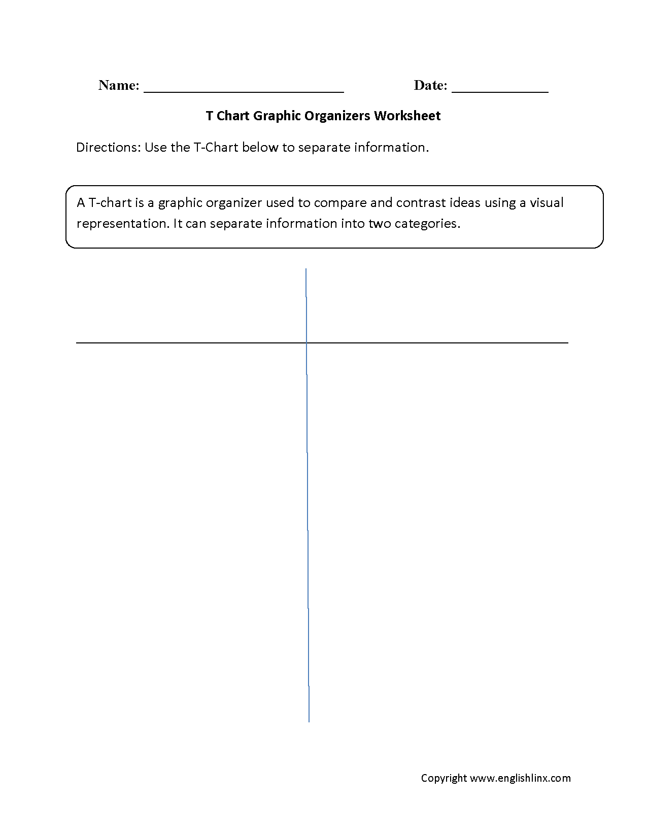 Englishlinx | Graphic Organizers Worksheets - Free Printable Main Idea Graphic Organizer