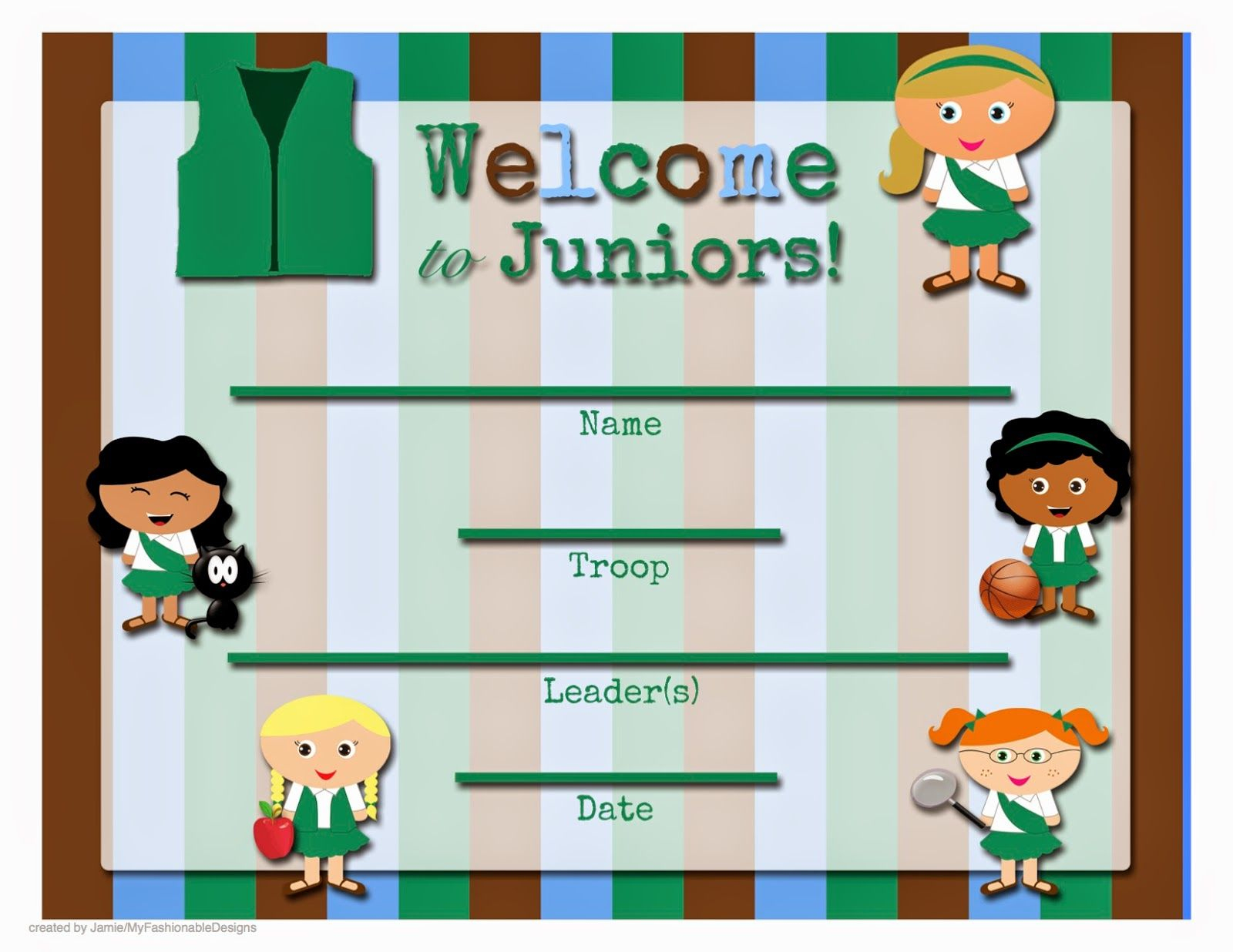 Enjoy These Free Printable Welcome Certificates! Click On The Image - Free Printable Camp Certificates