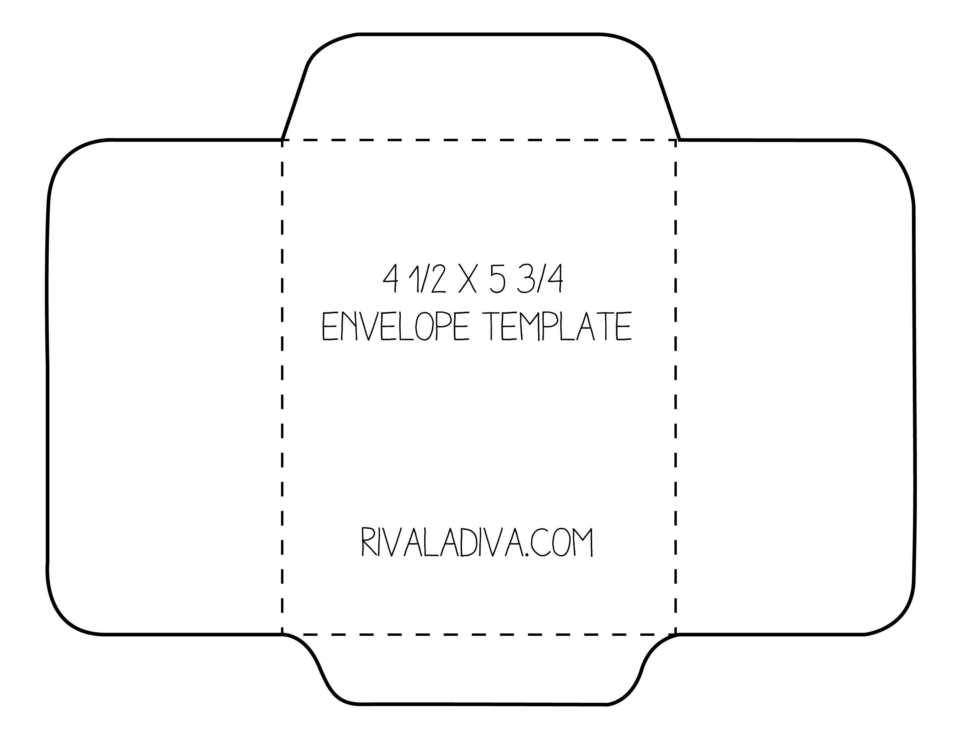 Envelope Template   Envelope Template For 8.5 X 11 Paper Diy - Free Printable Envelope Size 10 Template