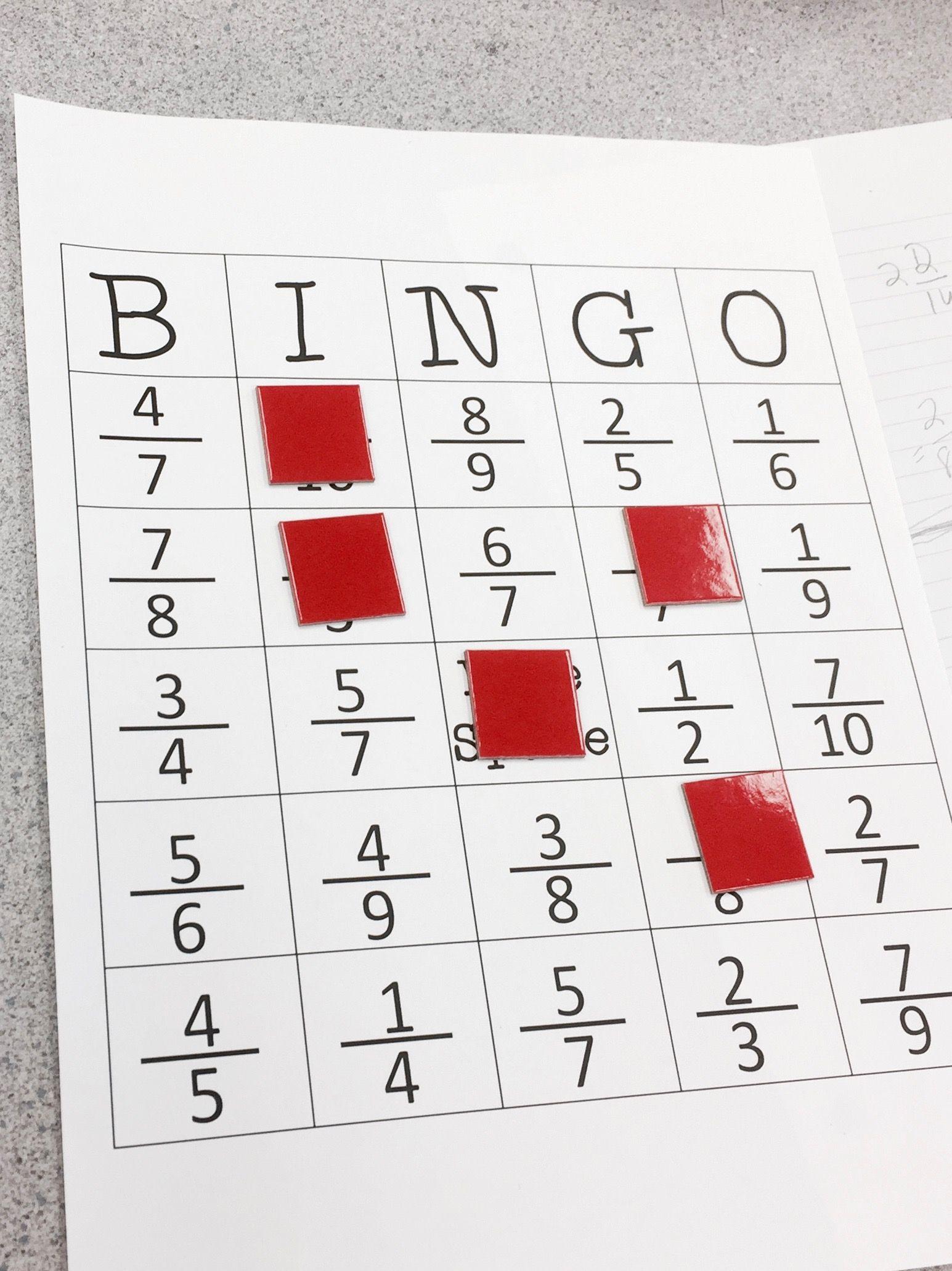 Equivalent Fraction Bingo   Elementary Education Collaborative Board - Fraction Bingo Cards Printable Free