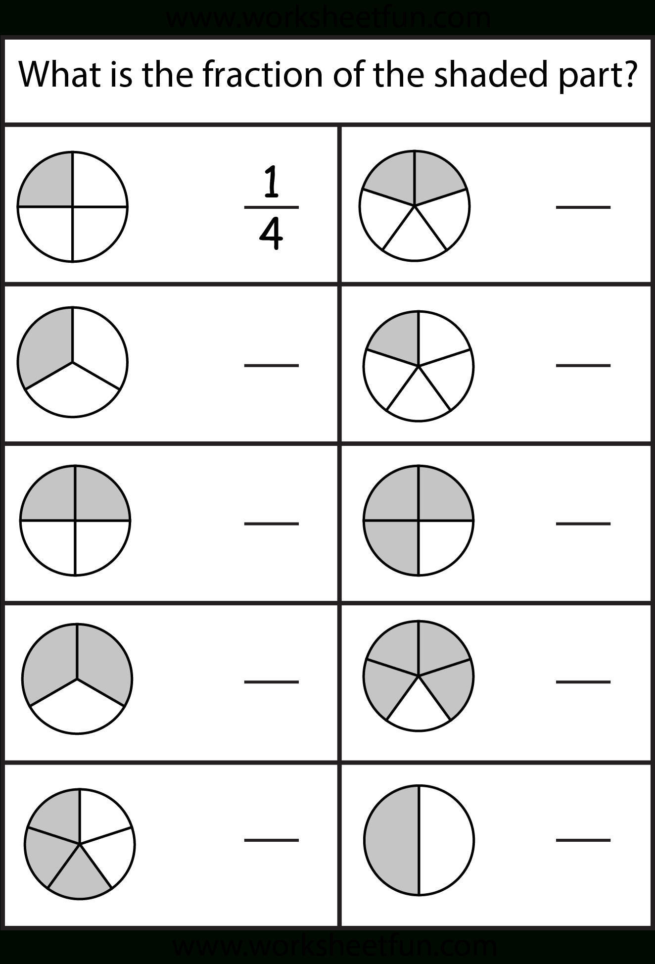 Equivalent Fractions Worksheet / Free Printable Worksheets - Free Printable First Grade Fraction Worksheets