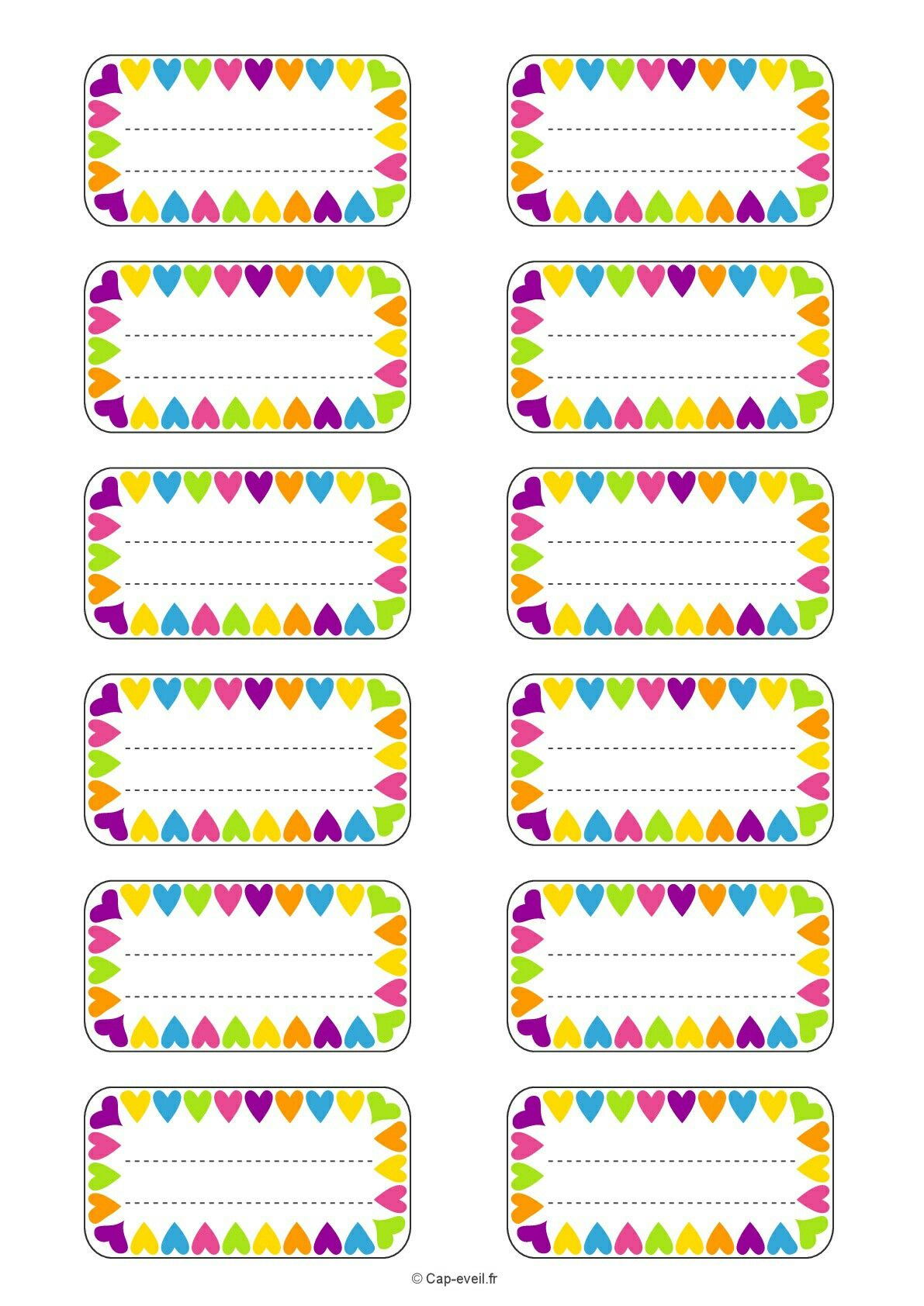 Etiquetas Escolares | Free Printable | Pinterest | School Labels - Free Printable Name Tags For Preschoolers