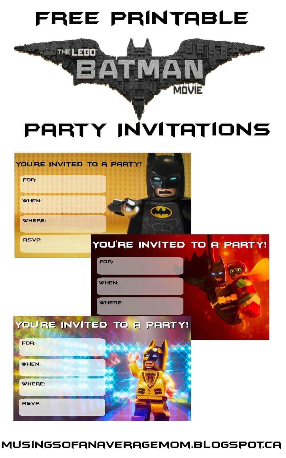 Everything You Need For A Lego Batman Party | Party Ideas | Lego - Lego Batman Party Invitations Free Printable