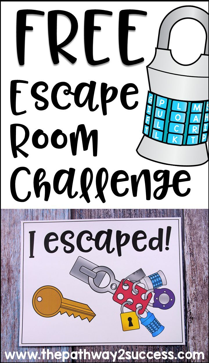 Executive Functioning Escape Room Activity   Cool Stuff From The - Printable Escape Room Free
