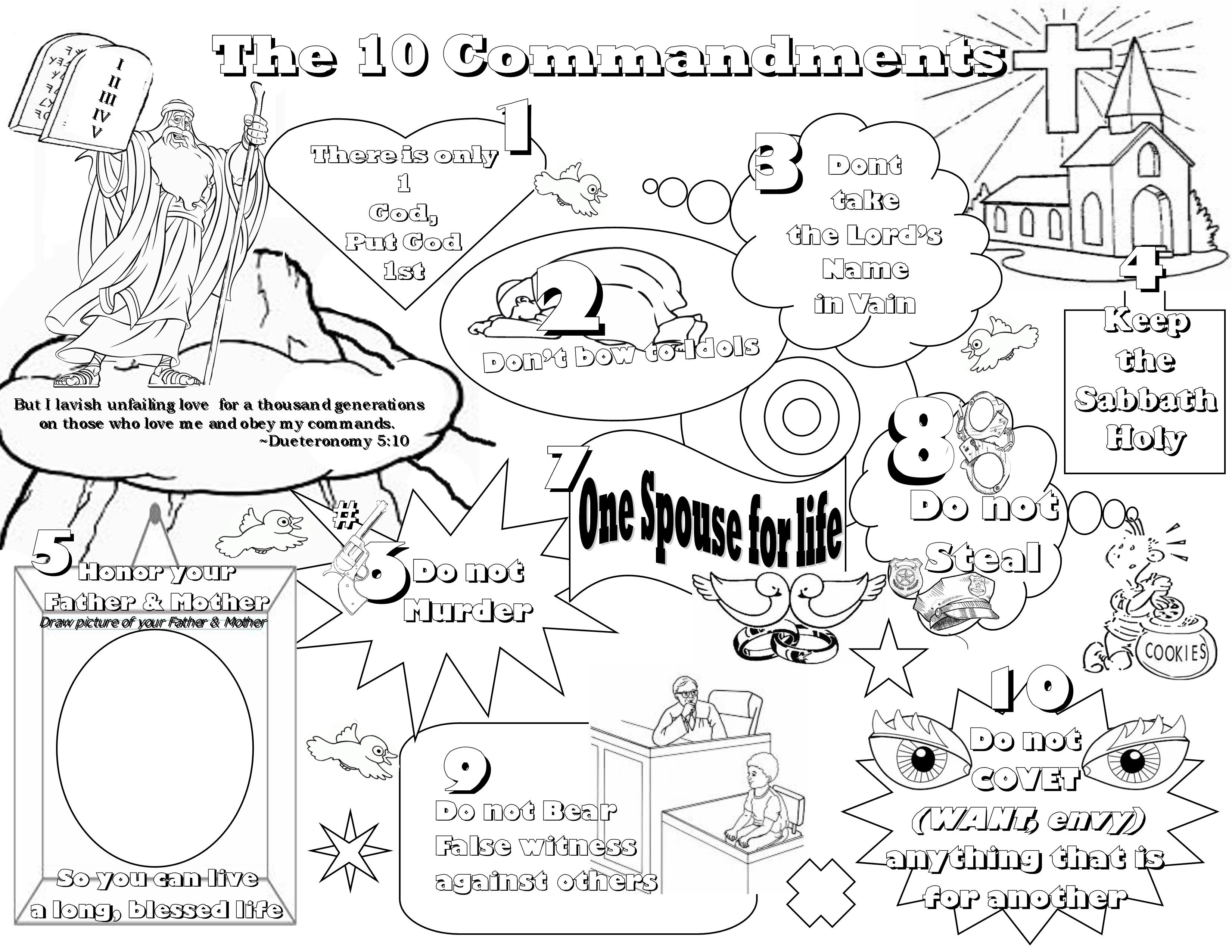 Exquisite Free Printable Ten Commandments Coloring Pages Do Not - Free Printable Ten Commandments Coloring Pages