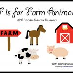 F Is For Farm Animals    Letter F Printables   Free Printable Farm Animal Pictures