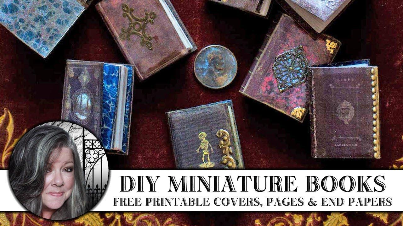 🖌 Diy Miniature Books 📚 - Youtube - Free Printable Miniature Book Covers