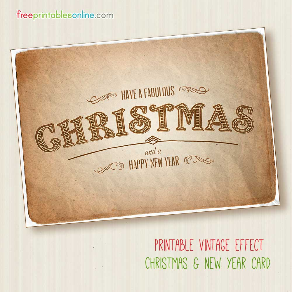Fabulous Free Printable Vintage Christmas Card - Free Printable Cards Online