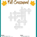 Fall Crossword Puzzle Free Printable Worksheet   Free Printable Crossword Puzzles