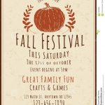 Fall Flyer Template   Jourjour.co   Free Printable Fall Flyer Templates