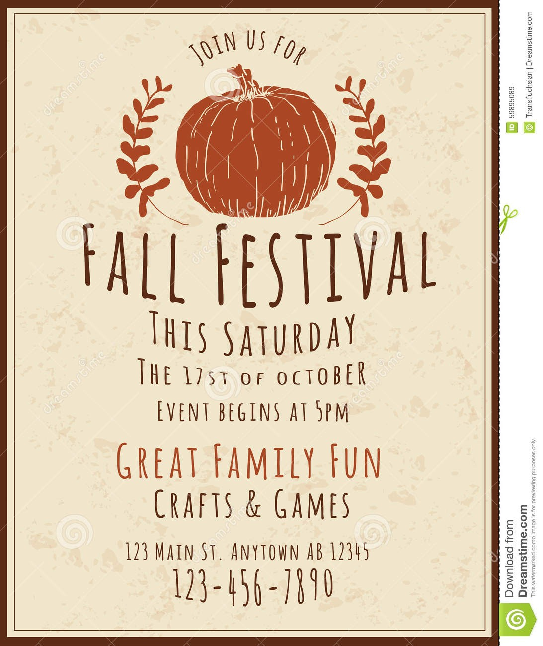 Fall Flyer Template - Jourjour.co - Free Printable Fall Flyer Templates