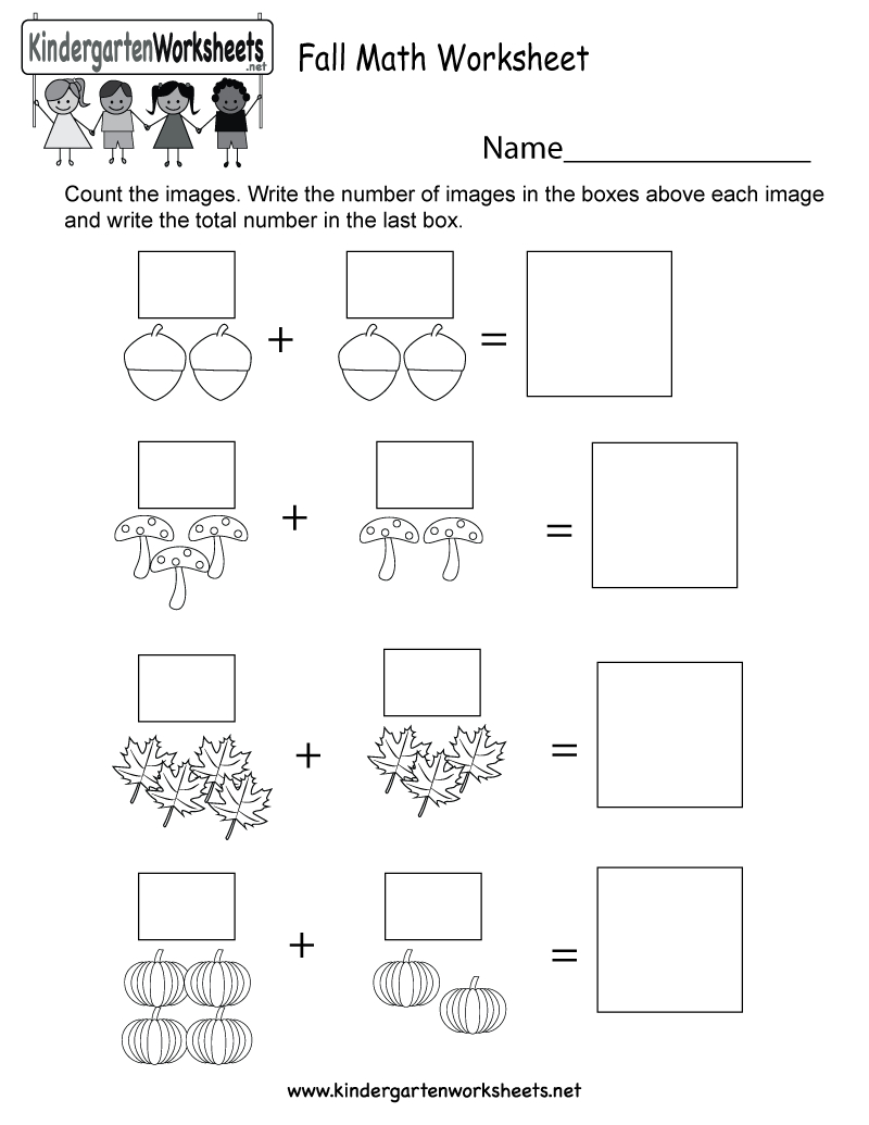 Fall Math Worksheet - Free Kindergarten Seasonal Worksheet For Kids - Free Printable Fall Math Worksheets