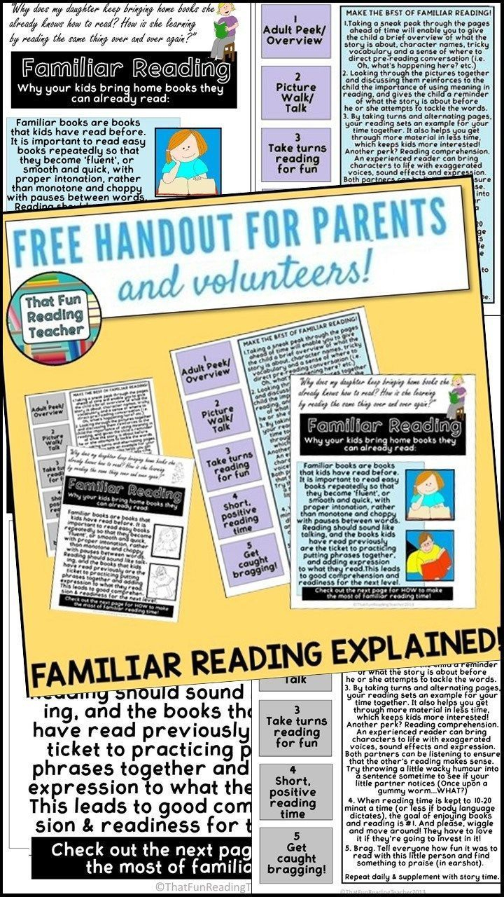 Familiar Reading – Why Your Kids Bring Home Books They Can Already - Free Printable Reading Recovery Books