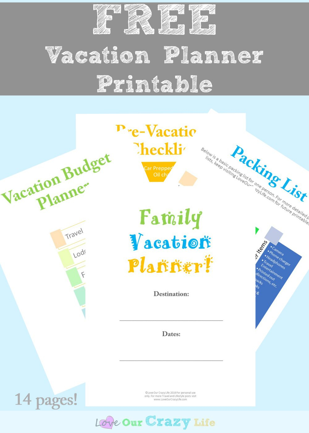 Family Vacation Planning Tips (Free Planner) | This Crazy Adventure - Free Printable Trip Planner