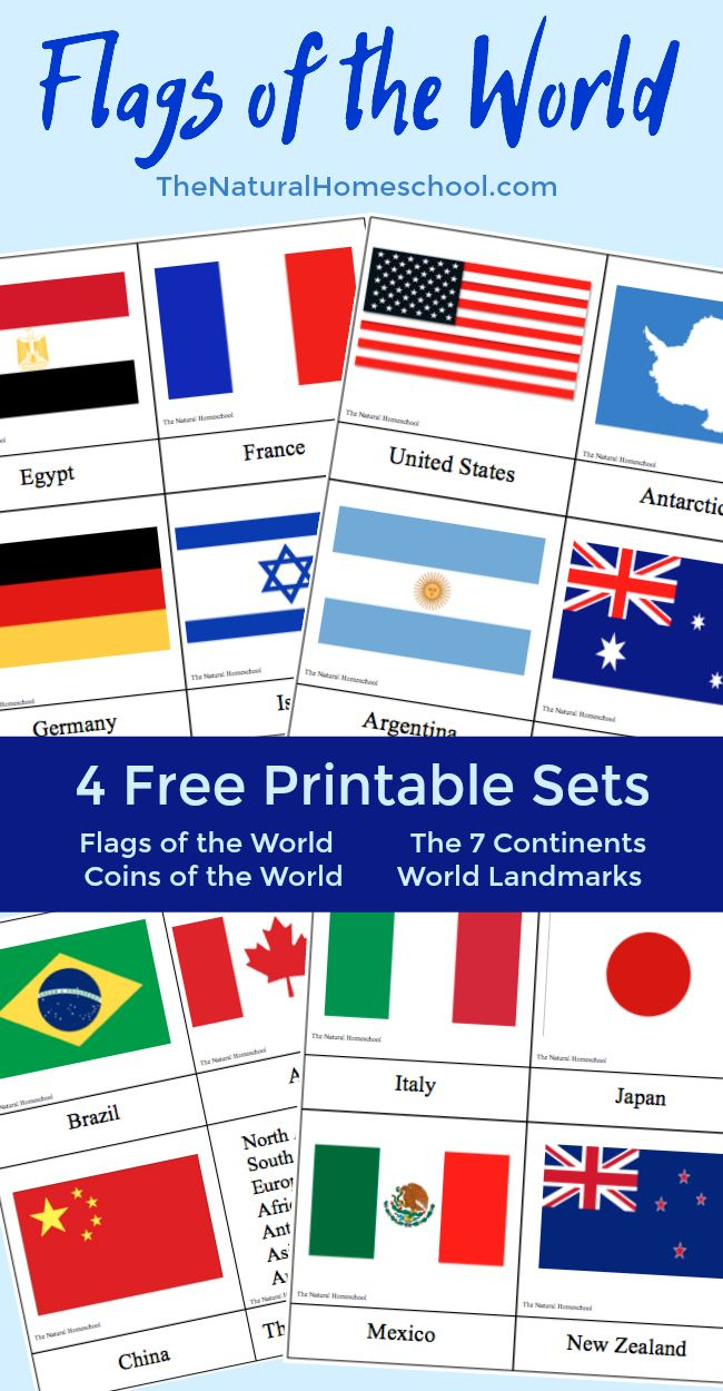 Fantastic Country Flags Of The World With 4 Free Printable Sets - Free Printable Pictures Of Flags Of The World