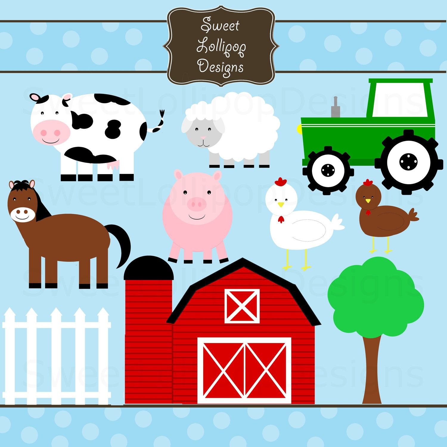 Farm Animal Free Printables | Farm Animals Digital Clip Art Clipart - Free Printable Farm Animals