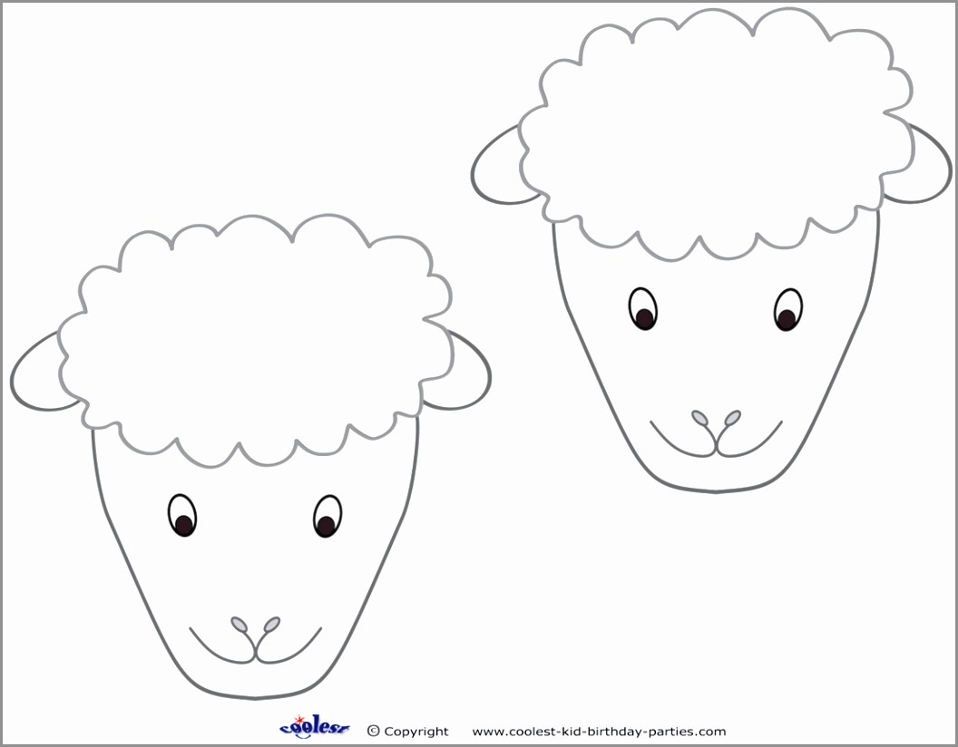 Farm Animals Cut Out Mask | Www.picturesvery - Free Printable Sheep Mask