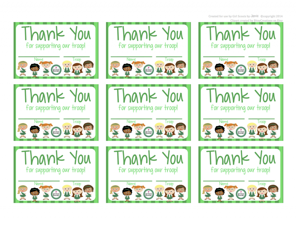 Fashionable Moms: Girl Scouts - Free Printable Thank You Cards In - Eagle Scout Cards Free Printable