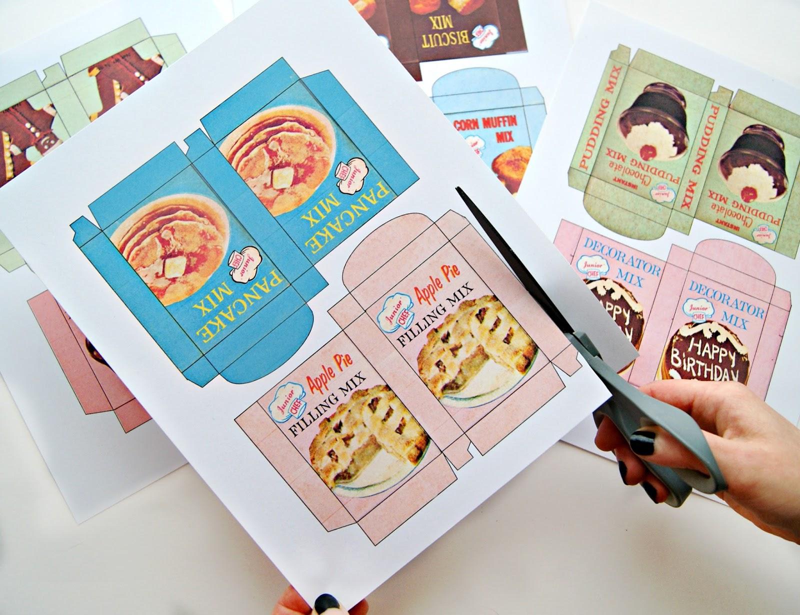 Fast & Fun Diy Vintage Mini Play Food Box Garland…with Free Printable! - Free Printable Play Food Labels