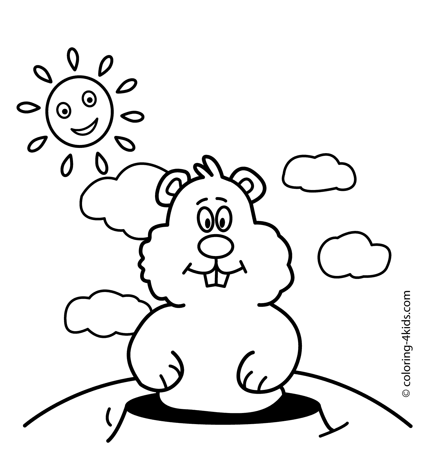 February Coloring Pages Groundhog Day For Kids 12 Printable Free - Free Printable Groundhog Day Booklet