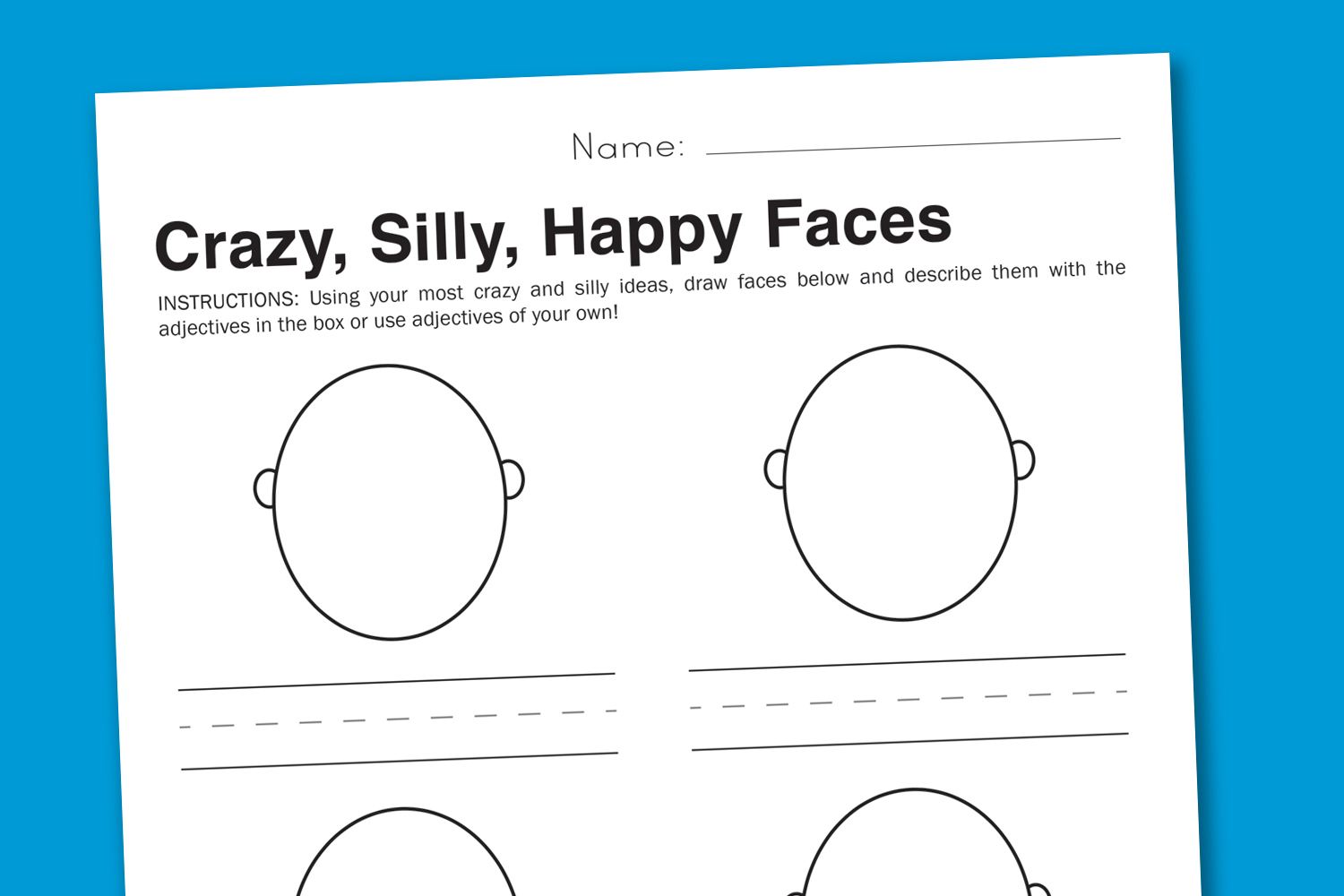 Feelings Worksheet - Silly Faces To Express Emotions - Free Printable Pictures Of Emotions