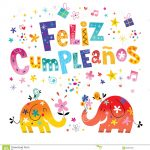 Feliz Cumpleanos Happy Birthday In Spanish Greeting Card Stock   Free Printable Happy Birthday Cards In Spanish