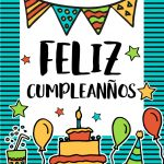 Feliz Cumpleanos Happy Birthday In Spanish Vector Image   Free Printable Happy Birthday Cards In Spanish
