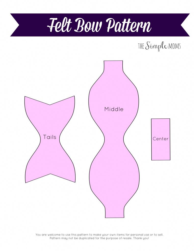 Felt Hair Bow Template Printable Web Image Gallery 12 Diy Throughout - Cheer Bow Template Printable Free